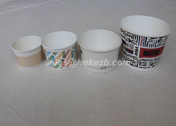 Personalized Ice Cream Paper Cups / Paper Frozen Yogurt Cups Double PE