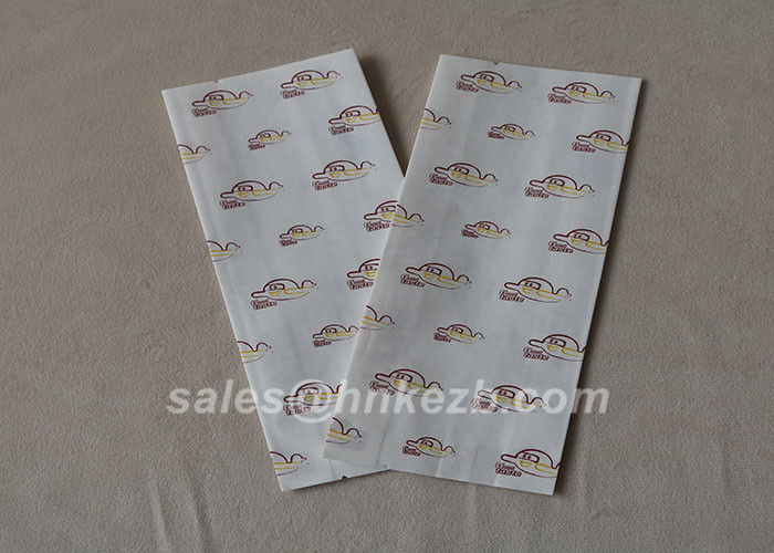 Customzied Logo Flat Bottom Fast Food Paper Carry Bag Accessories Disposable